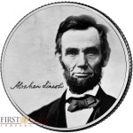 USA ABRAHAM LINCOLN 16th PRESIDENT OF USA series COIN OF THE MONTH $0.25 Quarter Dollar 2017